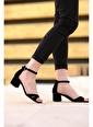 Oksit Florin Sana Topuklu Ayakkabı Siyah